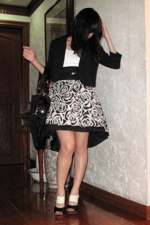 Betty blazer - top - Museum Clothing skirt - purse - sm department store shoes -