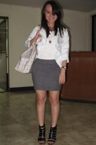 Faith Love Hope jacket - No label t-shirt - Mango skirt - Syrup shoes - Celine p