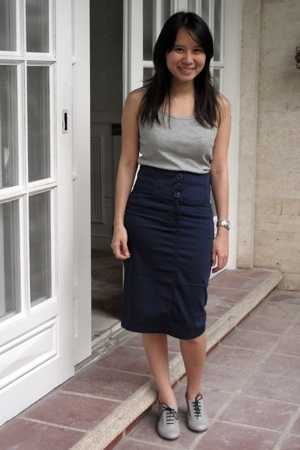 Uniqlo top - Mango skirt - Zara shoes