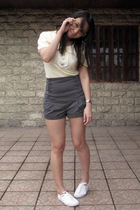 vintage glasses - Bread and Butter top - Topshop shorts - Dorothy Perkins shoes