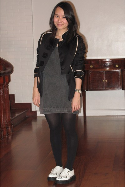 ensembles jacket - streetbeat dress - tights - Double Decker shoes