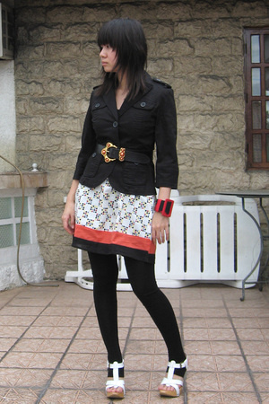 jacket - belt - Mango tights - shoes