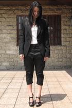 Zara blazer - t-shirt - Giordano Concepts pants - Forever21 shoes