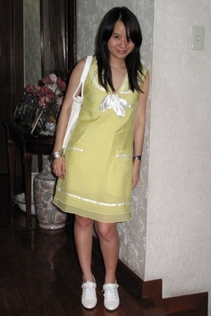 My Little Dress dress - giordano purse - seibu fashion shoes