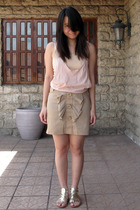 Topshop top - No label intimate - Z skirt - Zara shoes