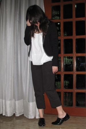 Giordano Concepts blazer - Uniqlo top - giordano pants - Forever21 shoes