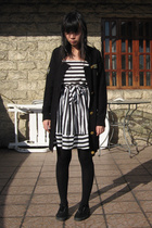 coat - dress - tights - H&M shoes