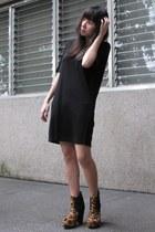black Giordano Ladies dress - camel Virtual Mae boots