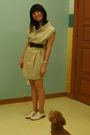 Beige-giordano-ladies-dress-beige-zara-belt-beige-giordano-ladies-shoes