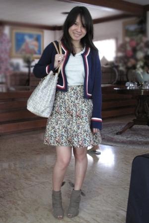 Giordano Concepts jacket - giordano t-shirt - skirt - Celine purse - seibu fashi