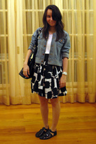 department store jacket - department store top - Mango belt - Mango skirt - Zara
