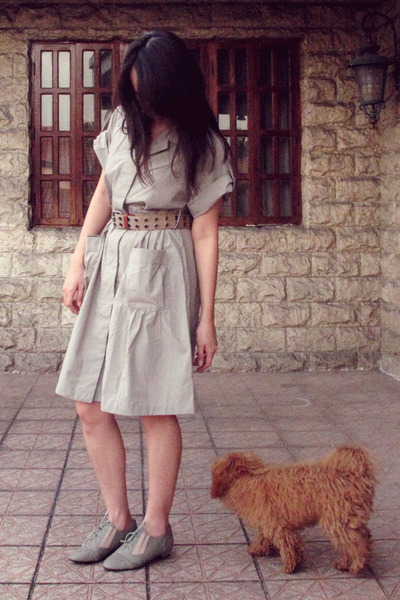 dress - giordano belt - Possibility shoes