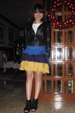 H&M jacket - t-shirt - Kamiseta skirt - shoes - purse