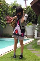 purse - Zara Trf t-shirt - dress - shoes