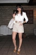 Giordano Ladies blazer - Esprit shirt - Topshop belt - vintage shorts - Celine p