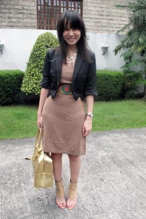 Giordano Concepts blazer - Giordano Ladies dress - Zara belt - Monica Fig shoes