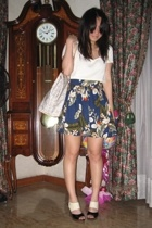 giordano top - Museum Clothing skirt - Celine purse - SM shoes
