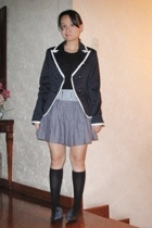 Forever21 blazer - No label t-shirt - No label belt - sm department store skirt
