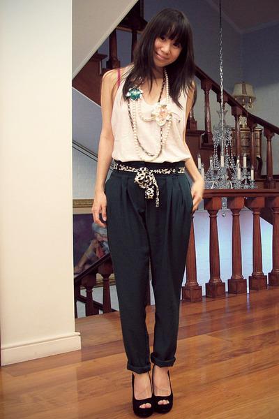 black peep toe pumps online buy heels - green cuffed trousers sm department stor
