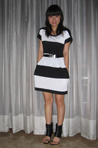 Zara dress - Topshop belt - Monica Fig shoes