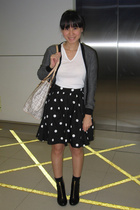 Giordano Concepts jacket - Uniqlo t-shirt - H&M skirt - H&M shoes - Celine purse