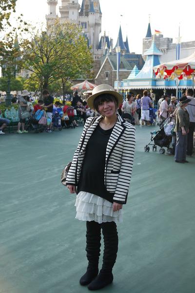 beige from japan hat - white Zara blazer - black from hong kong dress - black Ju