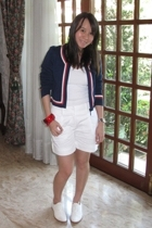 Giordano Concepts jacket - Mango t-shirt - Mango shorts - anteprima shoes - No l