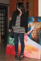 Zara jacket - Bab t-shirt - Uniqlo jeans - Mango purse - shoes