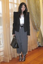 Zara blazer - Zara shirt - Forever 21 pants - Louis Vuitton purse - shoes