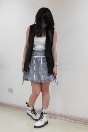 asamiimajuku blazer - Topshop top - no19 garden st skirt - Dr Martens boots