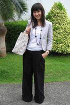 Giordano Concepts blazer - Giordano Concepts t-shirt - giordano pants - Celine p