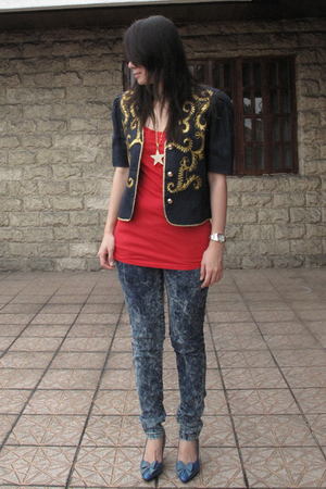 vintage jacket - Mango t-shirt - from hong kong leggings - vintage shoes