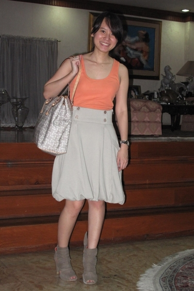 H&M top - H&M skirt - Celine purse - shoes