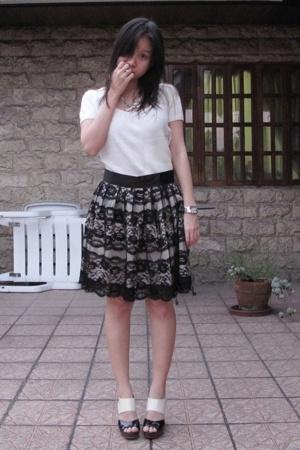 giordano sweater - Tomato skirt - sm department store shoes - Aldo necklace
