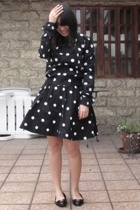 H&M jacket - H&M skirt - ferragamo shoes