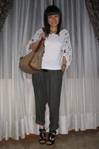 top - Zara pants - urban original shoes - Gucci purse