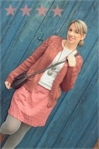 Sfera cardigan - Zara boots - Bershka sweater - eseoese skirt