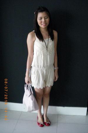 beige Zara jumper - pink longchamp bag - brown Tous necklace - brown DIY accesso