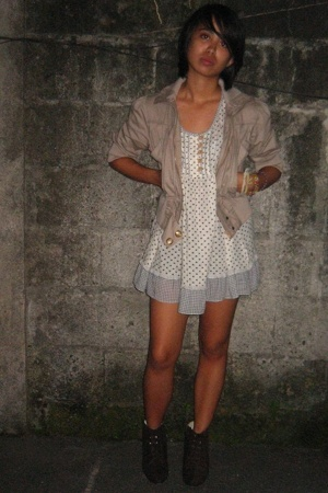 jacket - shirt - dress