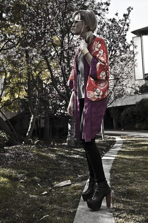 hot pink vintage kimono vintage jacket