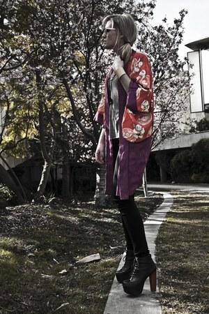 hot pink vintage kimono vintage jacket