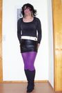 Purple-fiore-tights-black-feldbusch-shirt-black-no-brand-shoes-black-no-br