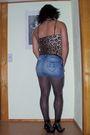 Black-ebay-shoes-black-ebay-tights-blue-fishbone-skirt-ebay-top