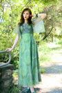 Green-vintage-from-sweetrocket99-dress-green-vintage-shoes-green-vintrage-ha
