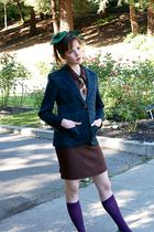 green preppy blazer Vintage plaid Pendelton blazer blazer - brown vintage dress