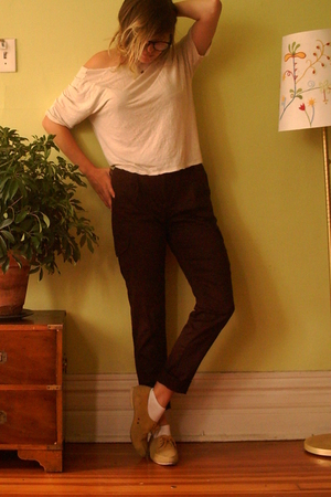 vintage pants - Urban Outfitters top - vintage shoes