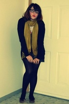 merona scarf - American Apparel shirt - Gap sweater - Old Navy dress - Steve Mad