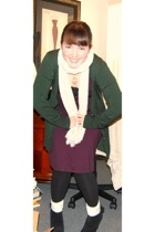 Forever21 sweater - Gap dress - Old Navy scarf - Rampage shoes - Vintage via Buf