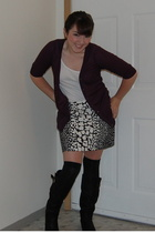 Target sweater - Walmart shirt - Target tights - Jcrew via Ebay skirt - Steve Ma