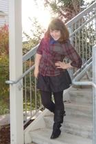 Forever21 jacket - Target scarf - Express via TJ Maxx skirt - Steve Madden shoes